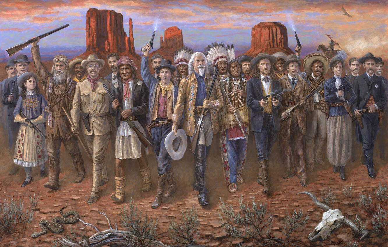 Photo wallpaper weapons, people, desert, Americans, The Indians, Wild West