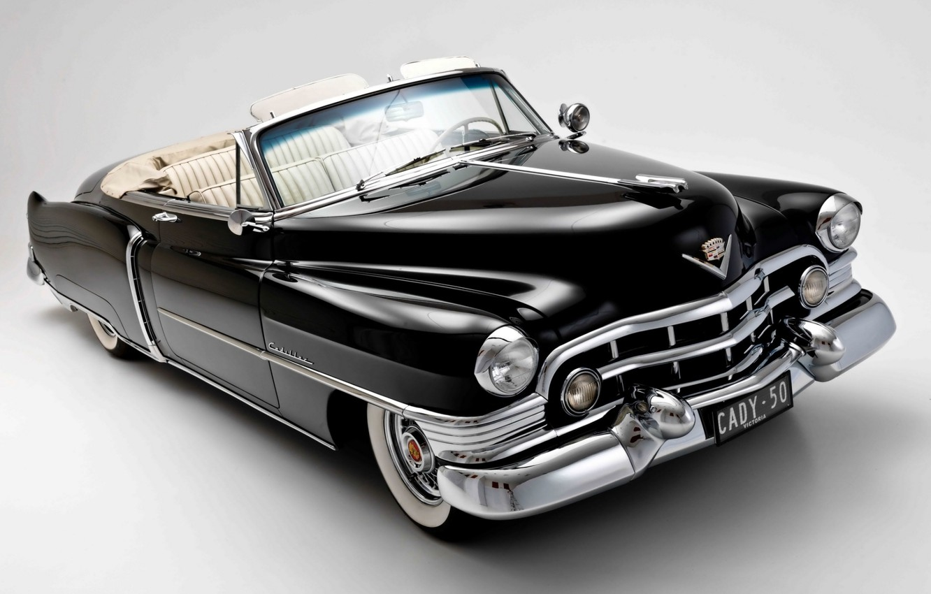 Photo wallpaper background, black, Cadillac, convertible, classic, 1950, Convertible, Cadillac, Sixty-Two, Sixty-One