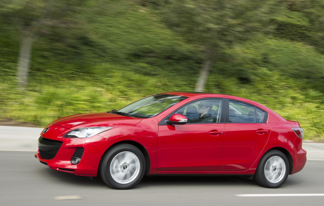 Photo wallpaper red, speed, Mazda, Red, 2013