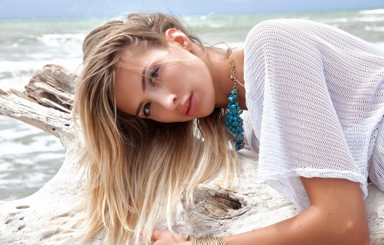 Photo wallpaper sexy, model, look, blonde, Claudia