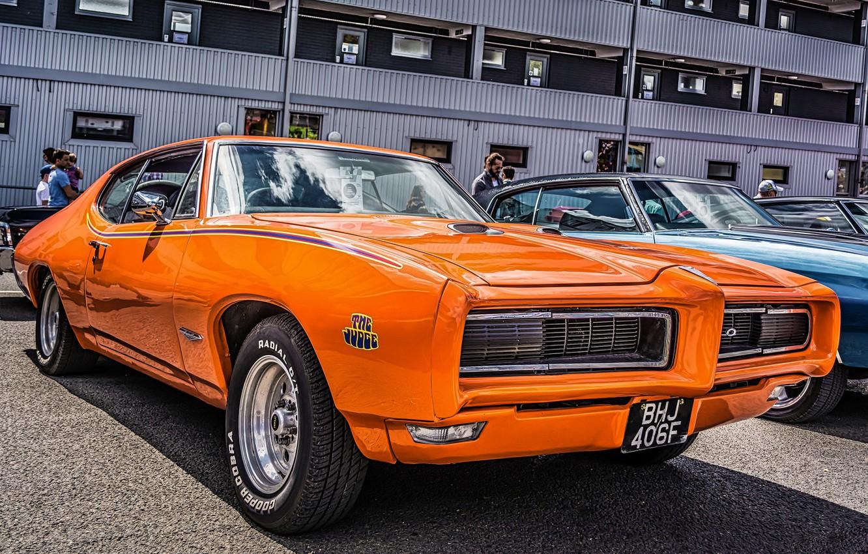 Photo wallpaper muscle car, Pontiac, GTO, 1968