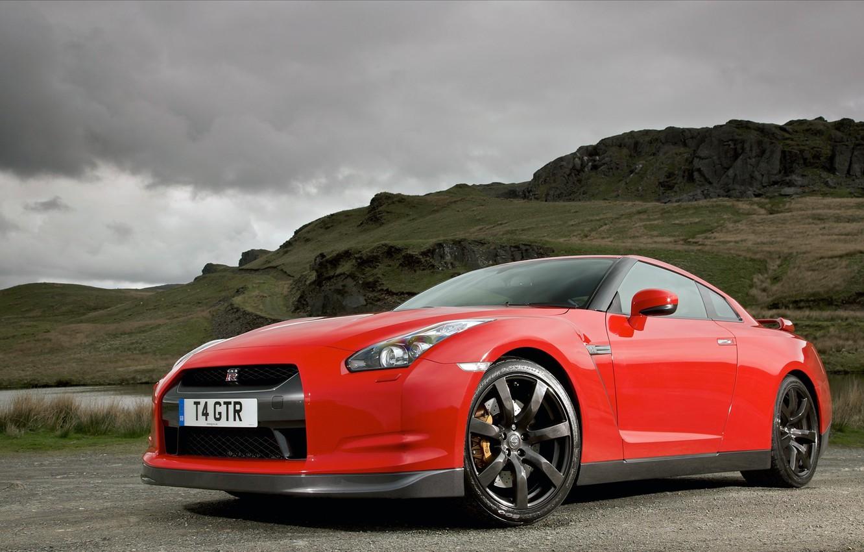 Photo wallpaper road, machine, auto, Nissan, nissan gt-r cars