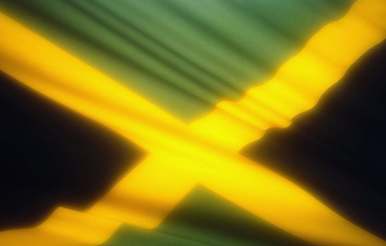 Photo wallpaper glow, flag, Jamaica