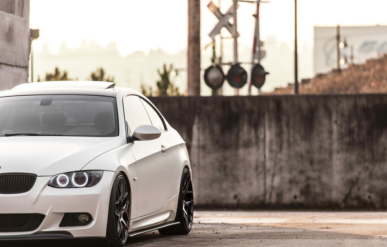 Photo wallpaper lights, BMW, BMW, white, white, 335i, angel eyes, E92