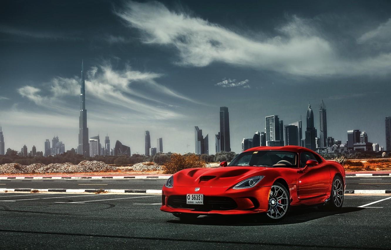 Photo wallpaper Dodge, Car, Viper, Dubai, Sport, SRT