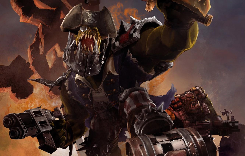 Photo wallpaper Warhammer 40000, Orc, Dawn of War 2, Retribution