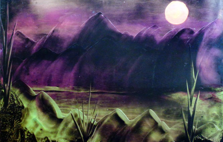 Photo wallpaper landscape, encaustic, Inessa Frankfurt