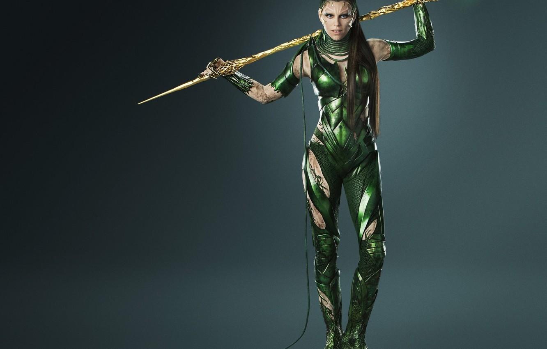 Photo wallpaper cinema, girl, armor, long hair, weapon, brown hair, movie, evil, film, Power Rangers, Rita Repulsa, ...
