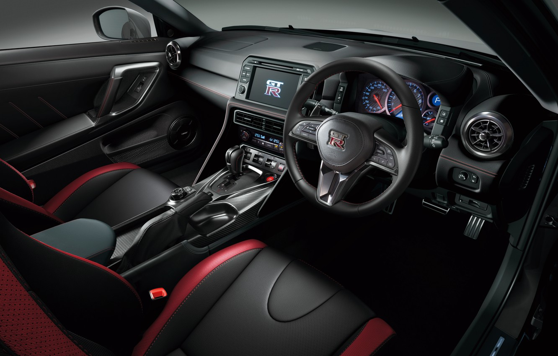 Photo wallpaper panel, interior, the wheel, Nissan, GT-R, salon, Nissan, R35, torpedo