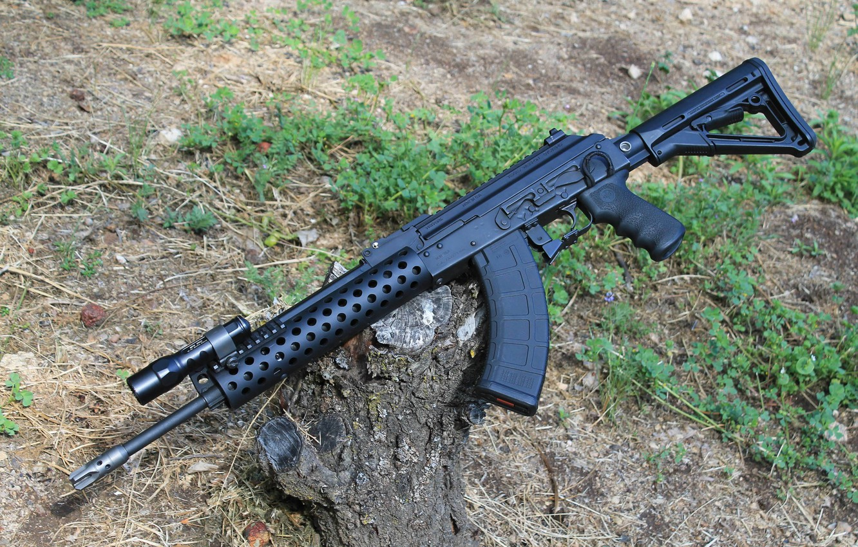Photo wallpaper weapons, Kalashnikov, copy, machine, M10-762