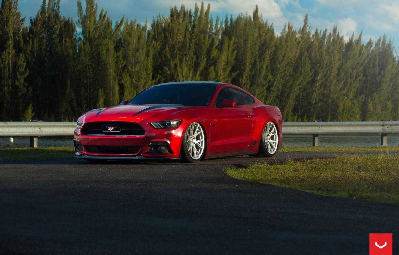 Photo wallpaper Mustang, Ford, Vossen, Graphite, VFS6