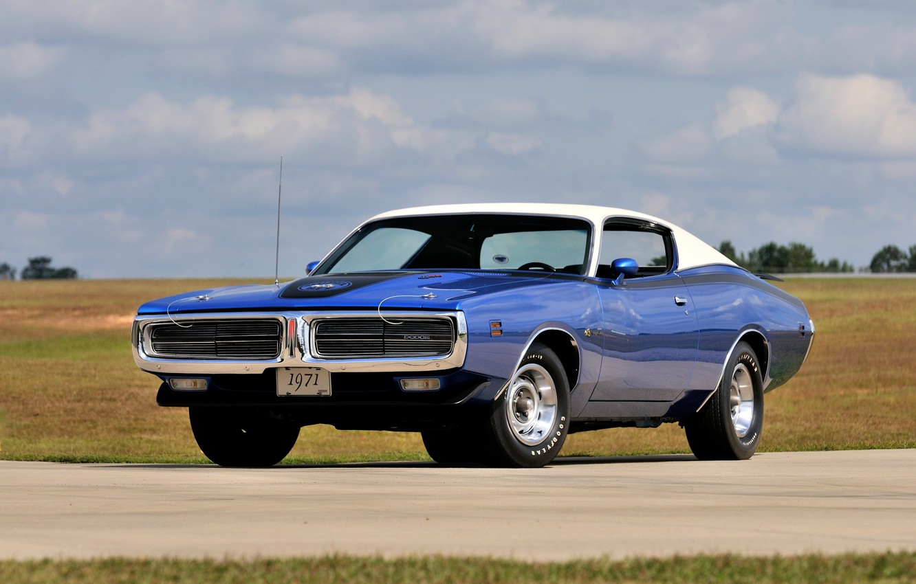Photo wallpaper 1971, Dodge, Charger, Super, Hemi, Bee