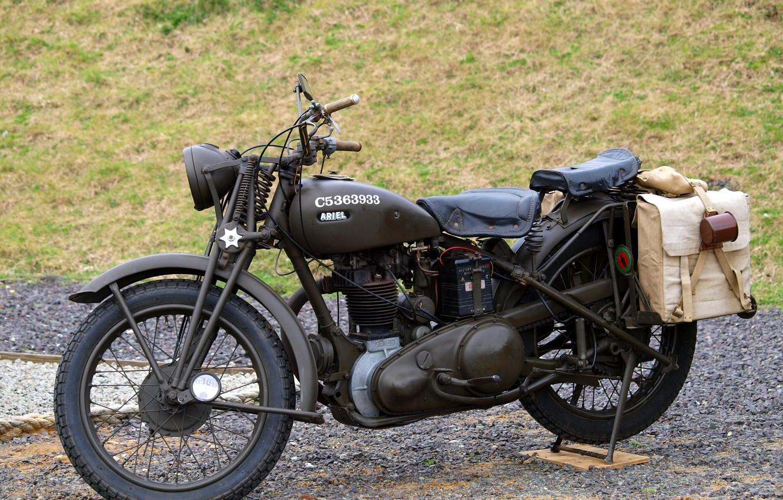 Photo wallpaper motorcycle, Ariel, British, WW2, W/NG