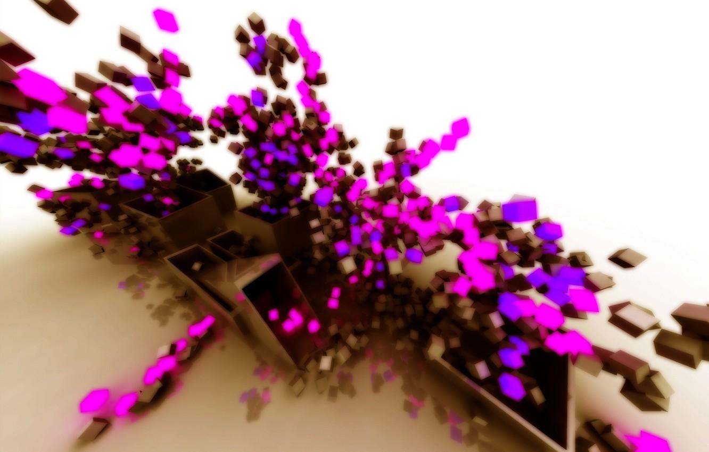 Photo wallpaper color, fantasy, pink
