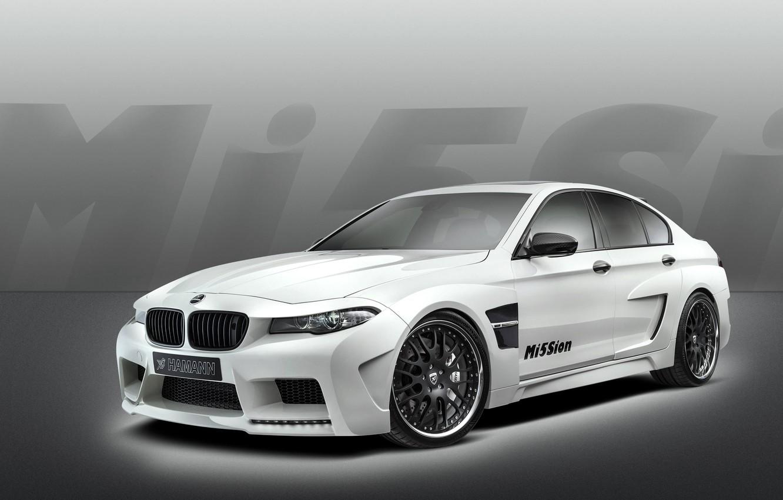 Photo wallpaper Auto, White, BMW, Machine, Tuning, Boomer, BMW, Case, Sedan, Hamann, Mission