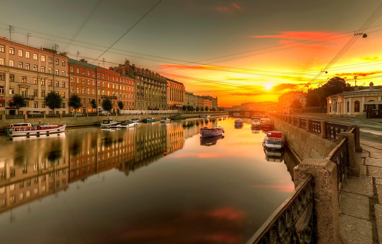 Photo wallpaper Saint Petersburg, Russia, Fontanka