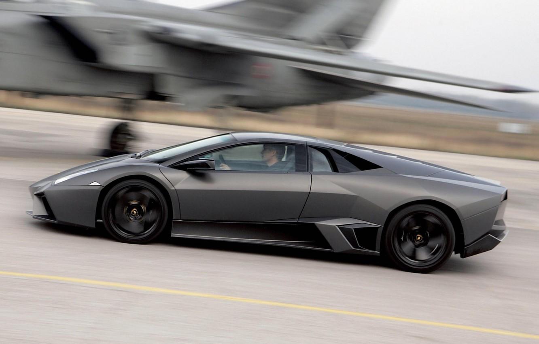 Photo wallpaper black, fighter, Lamborghini Reventon
