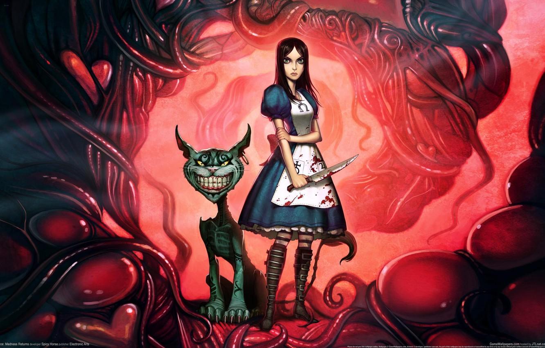 Photo wallpaper Alice, alice madness returns, Cheshire Cat