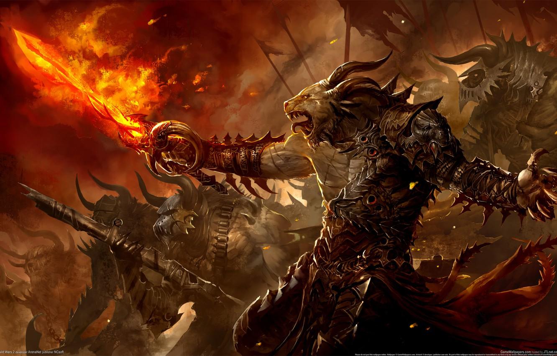 Wallpaper Fire Sword Fire Call Guild Wars 2 Images For Desktop