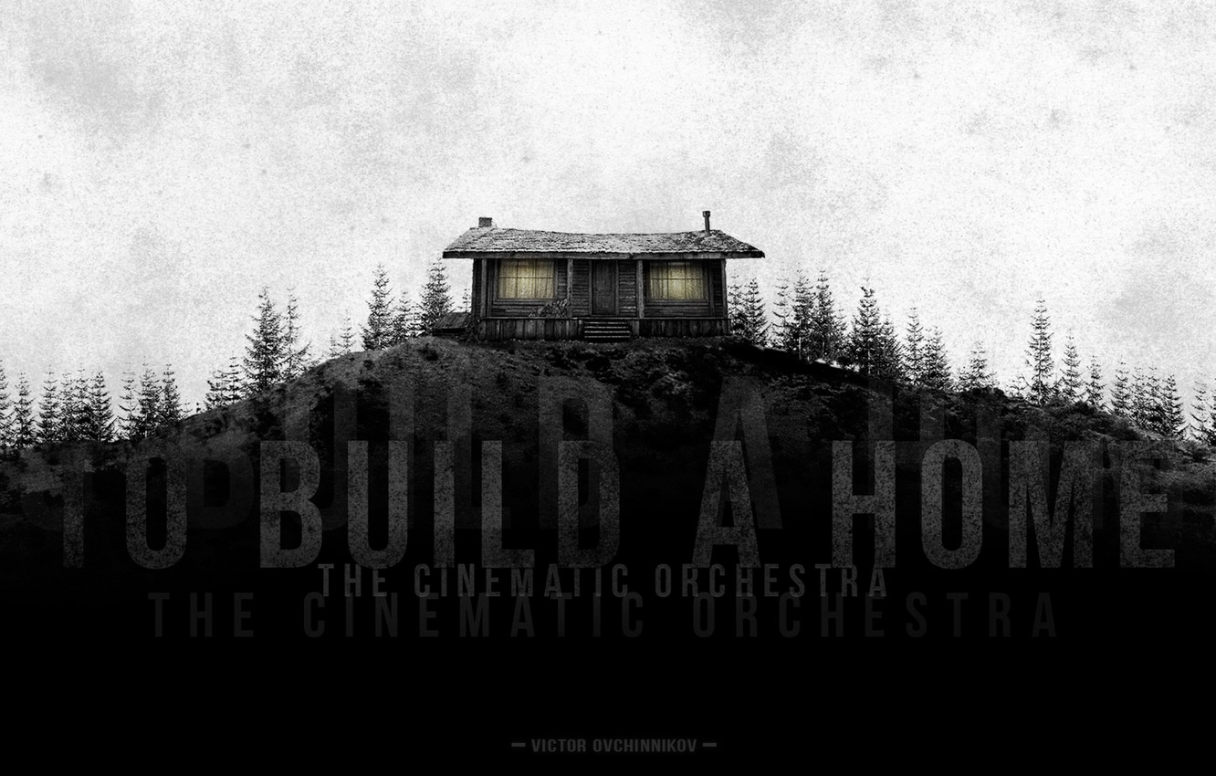 Wallpaper Mountains House Music Hill Grunge Gloomy
