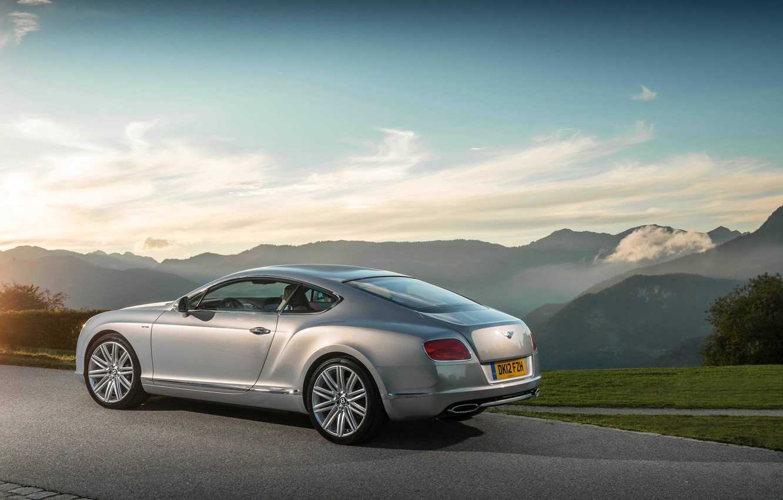 Photo wallpaper The sky, Auto, Bentley, Continental, Wheel, Machine, Grey, Bentley, Coupe
