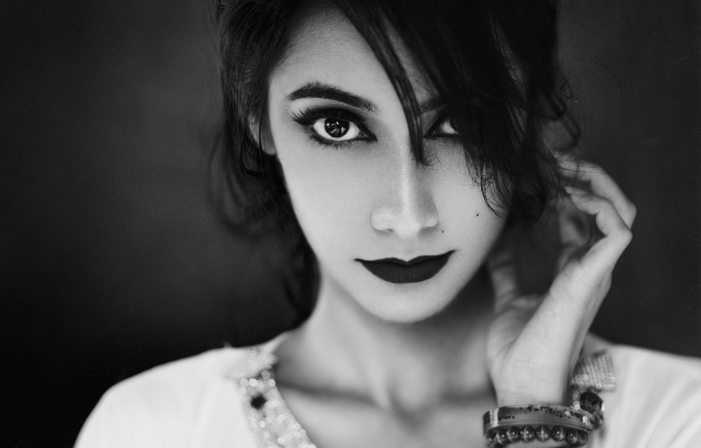 Photo wallpaper eyes, look, girl, portrait