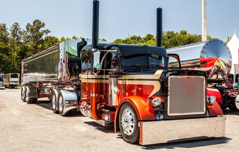 Photo wallpaper custom, truck, peterbilt, mid america