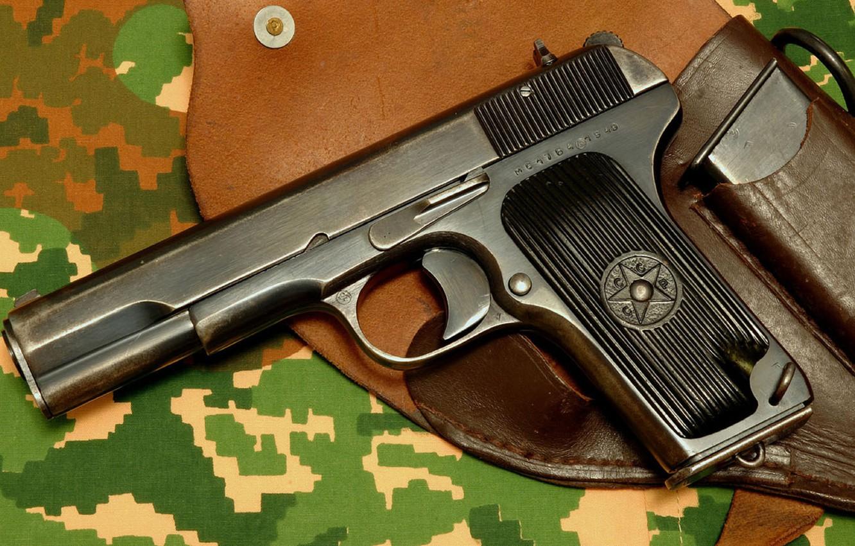 Photo wallpaper gun, USSR, Camouflage, Holster, Tokarev, Tula, Self-loading, TT