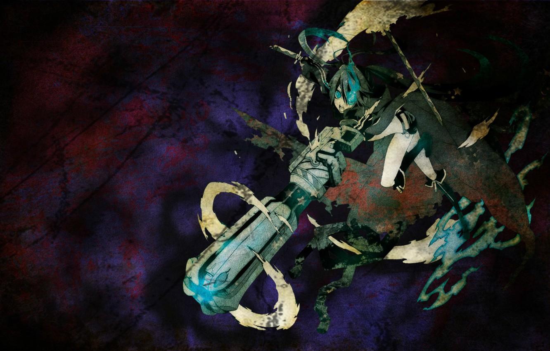 Photo wallpaper attack, black rock shooter, mato kuroi, jerk, super-weapons, insane black rock shooter