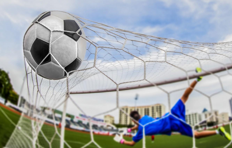 Photo wallpaper soccer, goal, ball