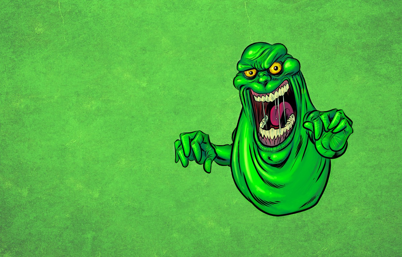 Photo wallpaper language, green, monster, monster, Ghostbusters, Ghostbusters, drool, Ghost, mucous, Slimer