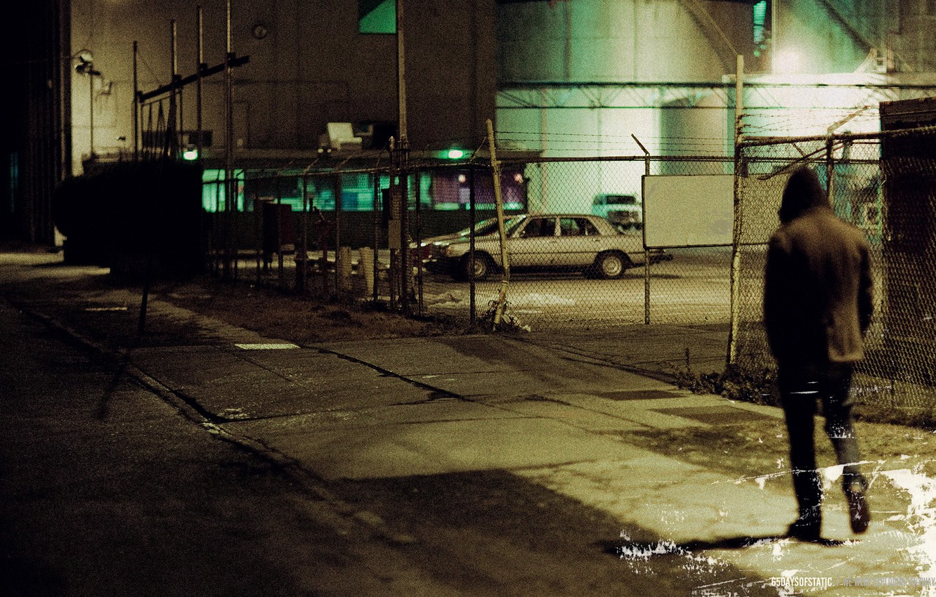 Photo wallpaper night, the city, loneliness, 65daysofstatic, we were exploding anyway