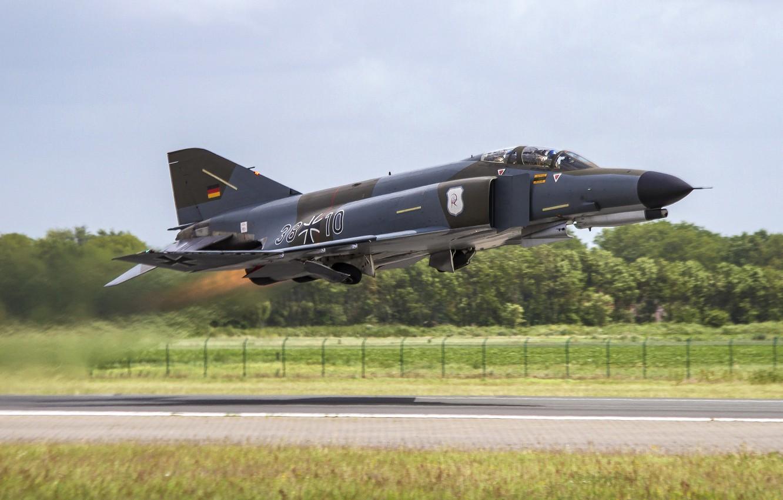 Photo wallpaper fighter, multipurpose, Phantom II, McDonnell Douglas, Phantom II, F-4F