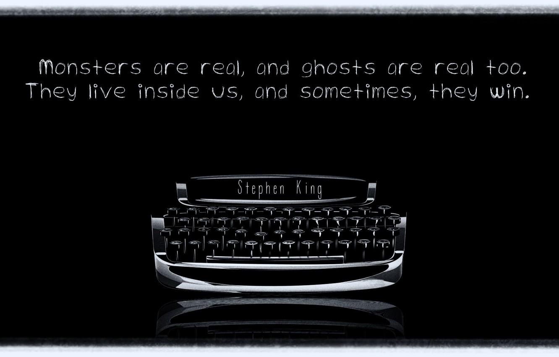 Photo wallpaper quote, typewriter, Stephen king