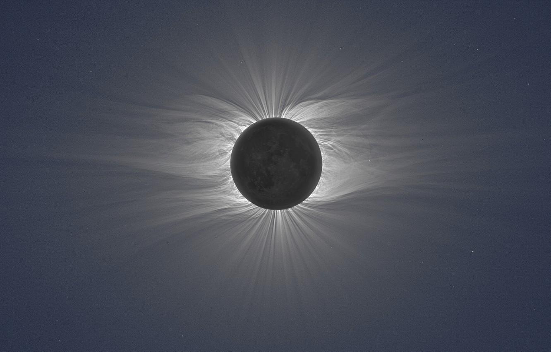 Photo wallpaper a total solar Eclipse; photo Miroslav Druckmuller, Total Solar Eclipse, Peter Aniol, Vojtech Rusin