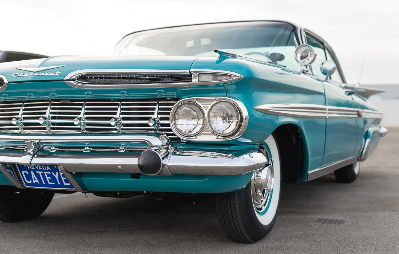 Photo wallpaper color, the front, 1959, Chevy Impala