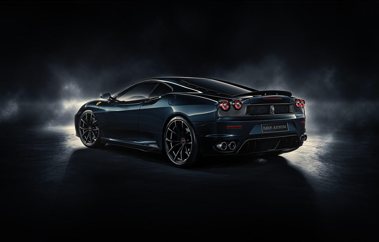 Photo wallpaper F430, Ferrari, rear, by DuronDesign, Midnight Black