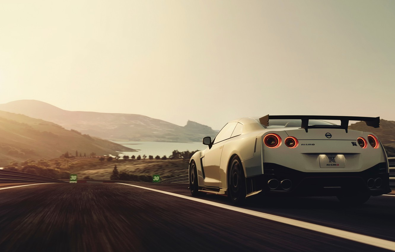 Photo wallpaper speed, track, Nissan, Nismo
