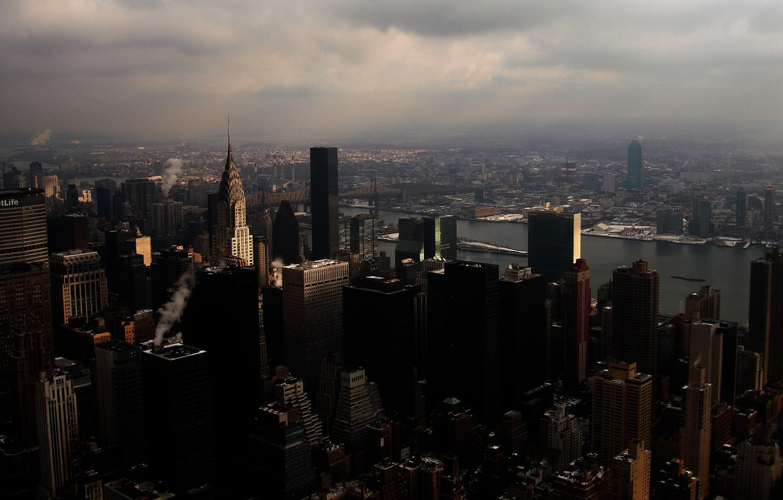 Photo wallpaper the sky, city, home, America, skyscrapers