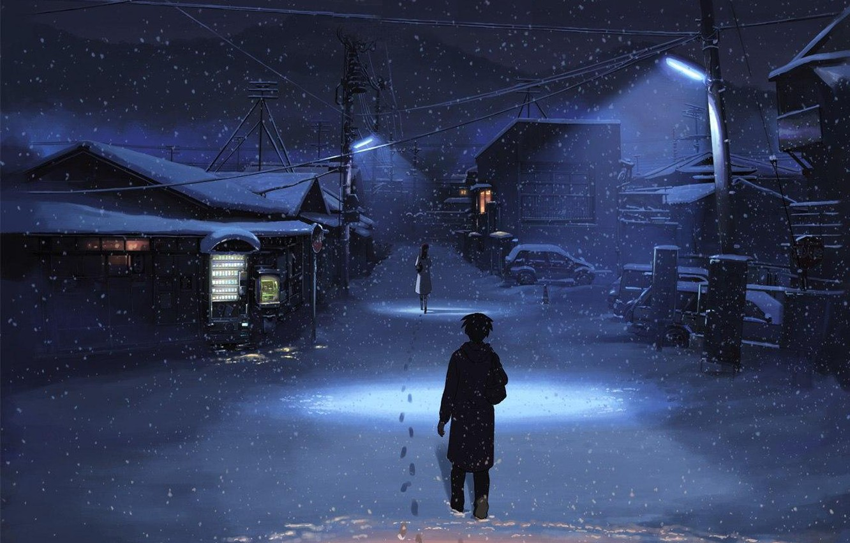 Photo wallpaper Makoto Xingkai, 5 centimeters, in a second