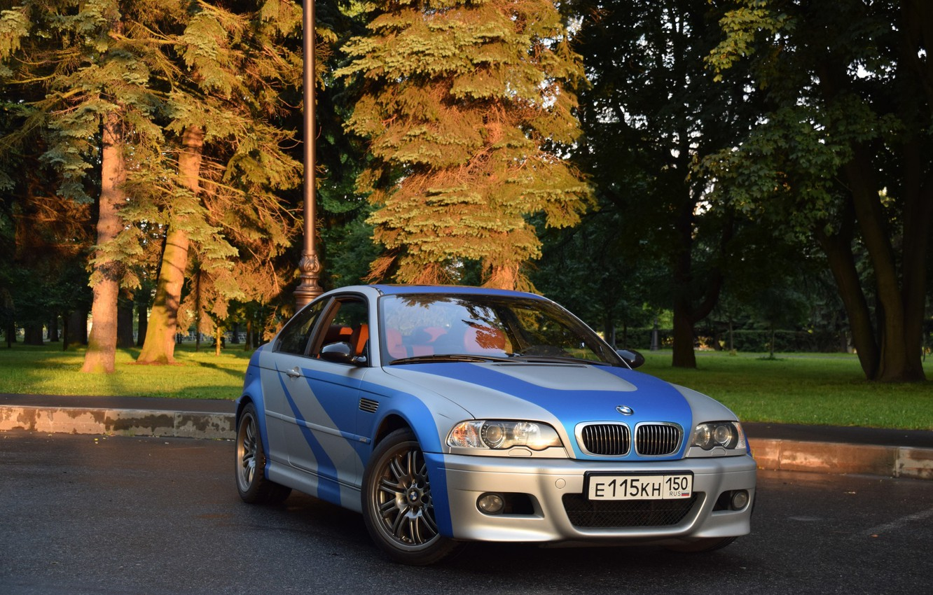 Photo wallpaper machine, auto, tuning, BMW, Car, most wanted, E46