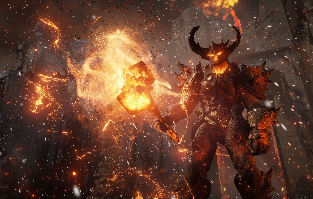 Photo wallpaper the game, the demon, art, Unreal Engine 4