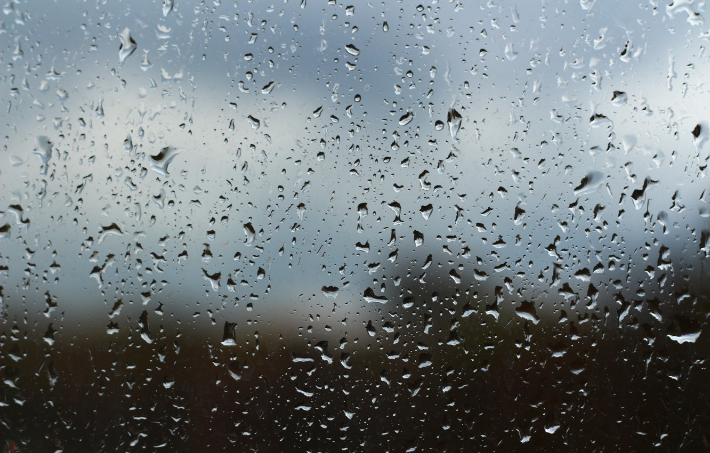 Photo wallpaper drops, background, rain, window