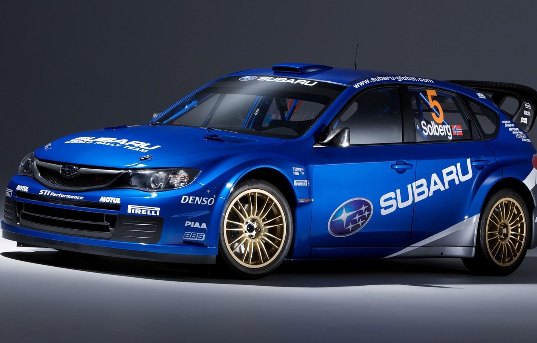 Photo wallpaper Subaru, Impreza, WRC, Solberg