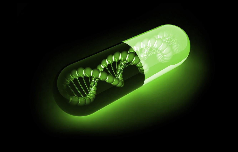 Photo wallpaper DNA, BACKGROUND, MOLECULES, CHAIN, CAPSULE