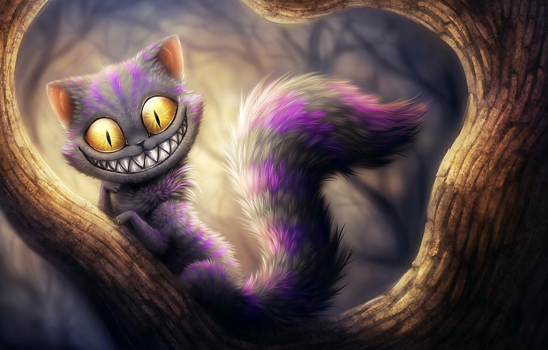 Photo wallpaper Cheshire cat, cheshire, kikariz