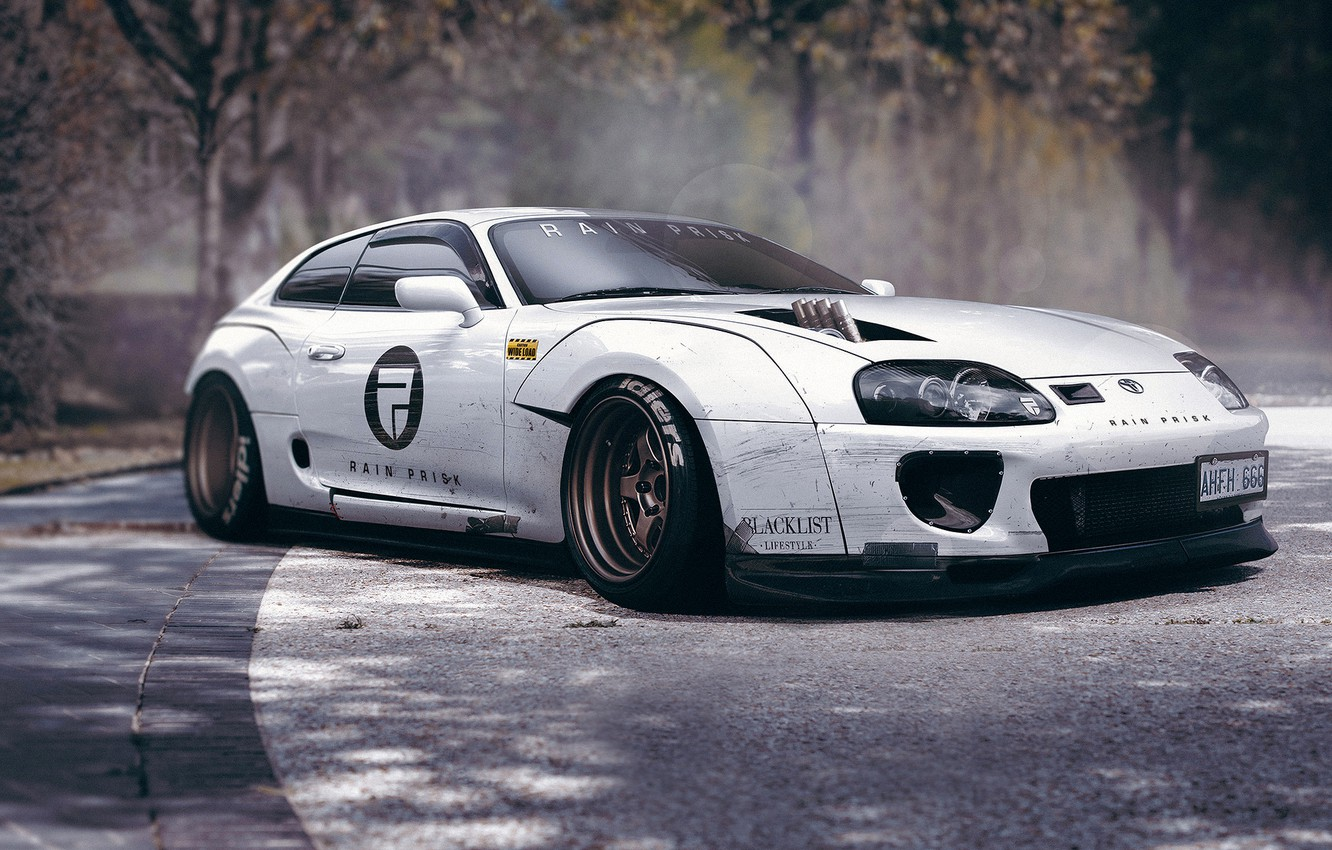 Photo wallpaper Toyota, Car, Design, White, Supra, Sport, Hatchback, by Rain Prisk