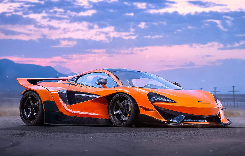Photo wallpaper McLaren, Orange, Tuning, Future, Supercar, by Khyzyl Saleem, Experimental, 570S