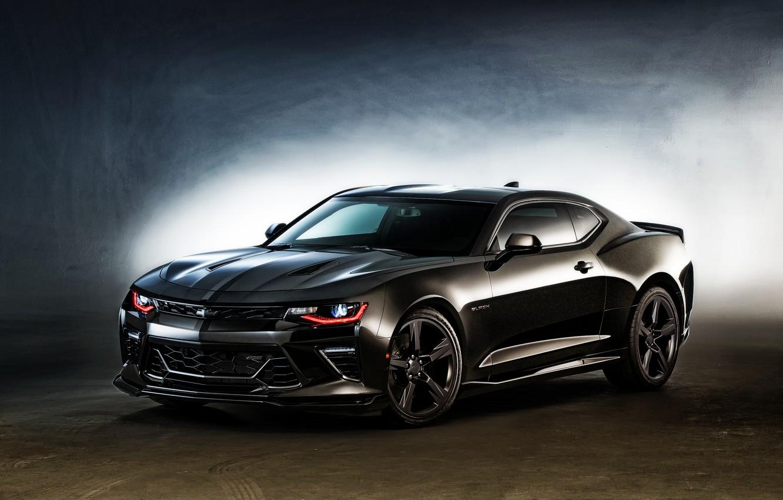Photo wallpaper Concept, black, Chevrolet, Camaro, Chevrolet, Black, Camaro
