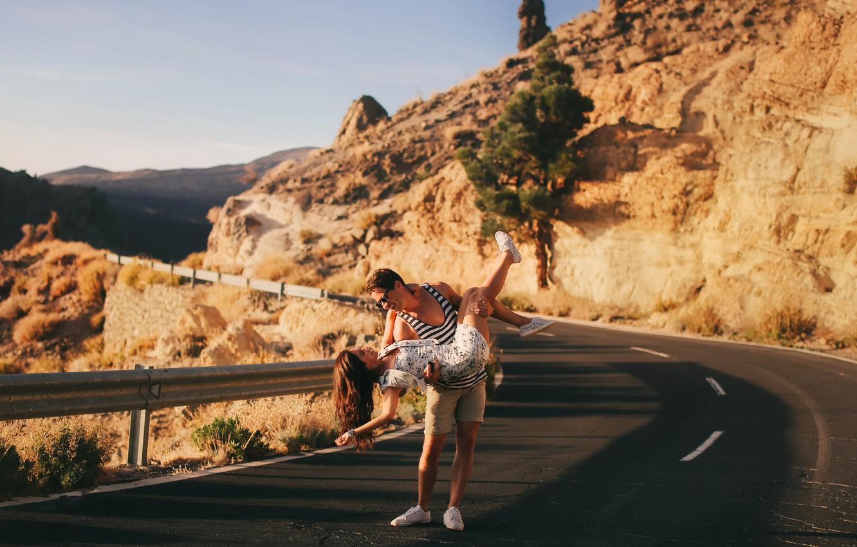 Photo wallpaper road, girl, photographer, girl, guy, photography, photographer, David Olkarny